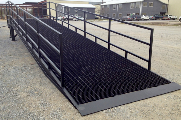 custom fabrication steel ramp